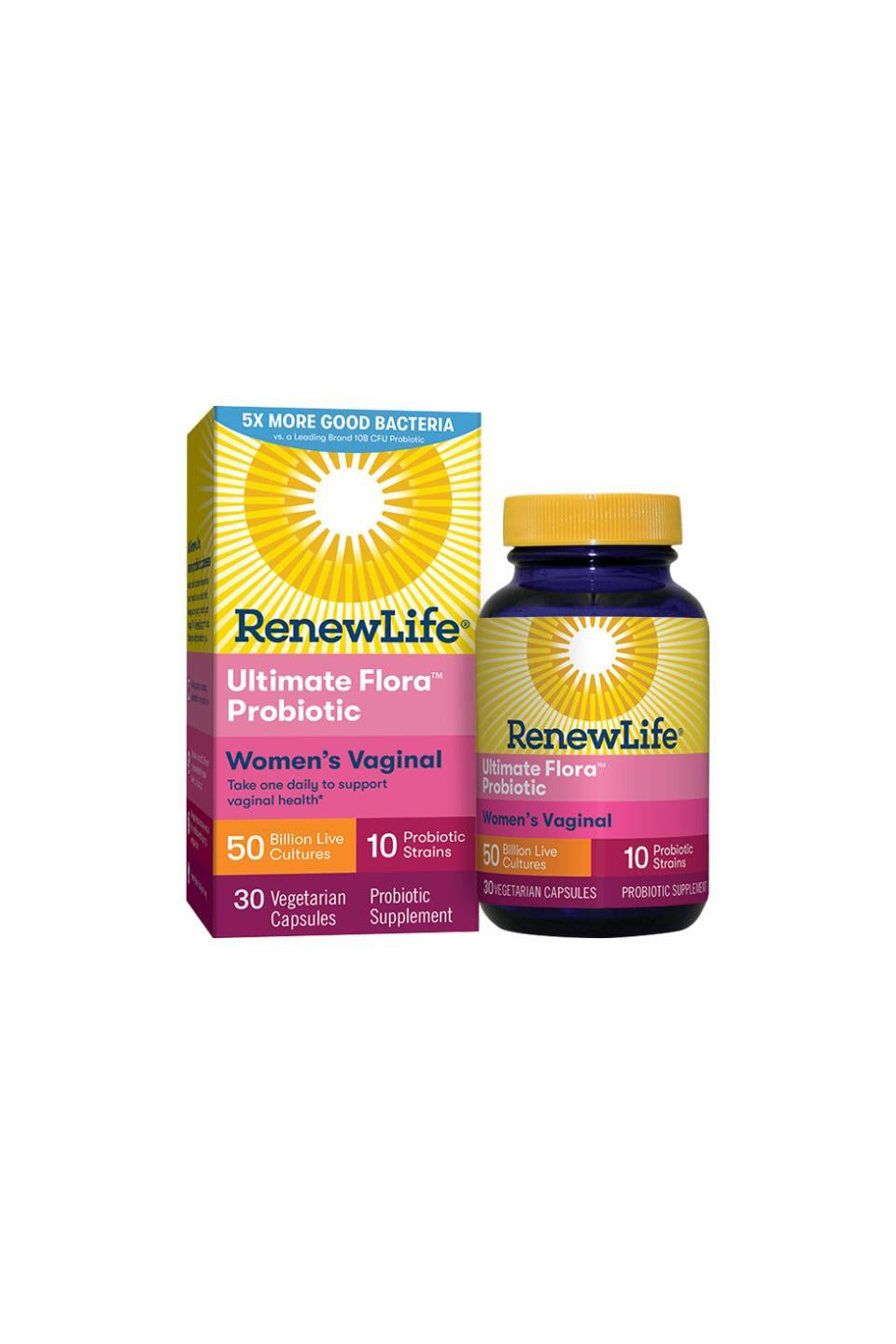 RenewLife Ultimate Flora Women's Vaginal Probiotic 50 billion 36s
