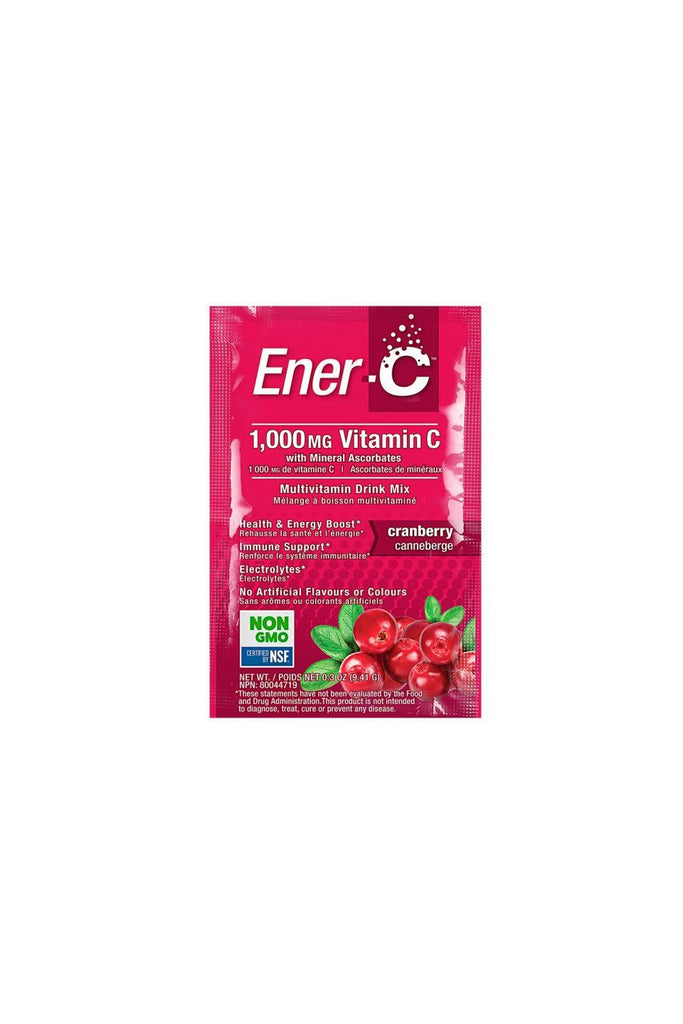 Ener-C Cranberry Multivitamin Drink Mix - 1,000mg Vitamin C 1 Sachet