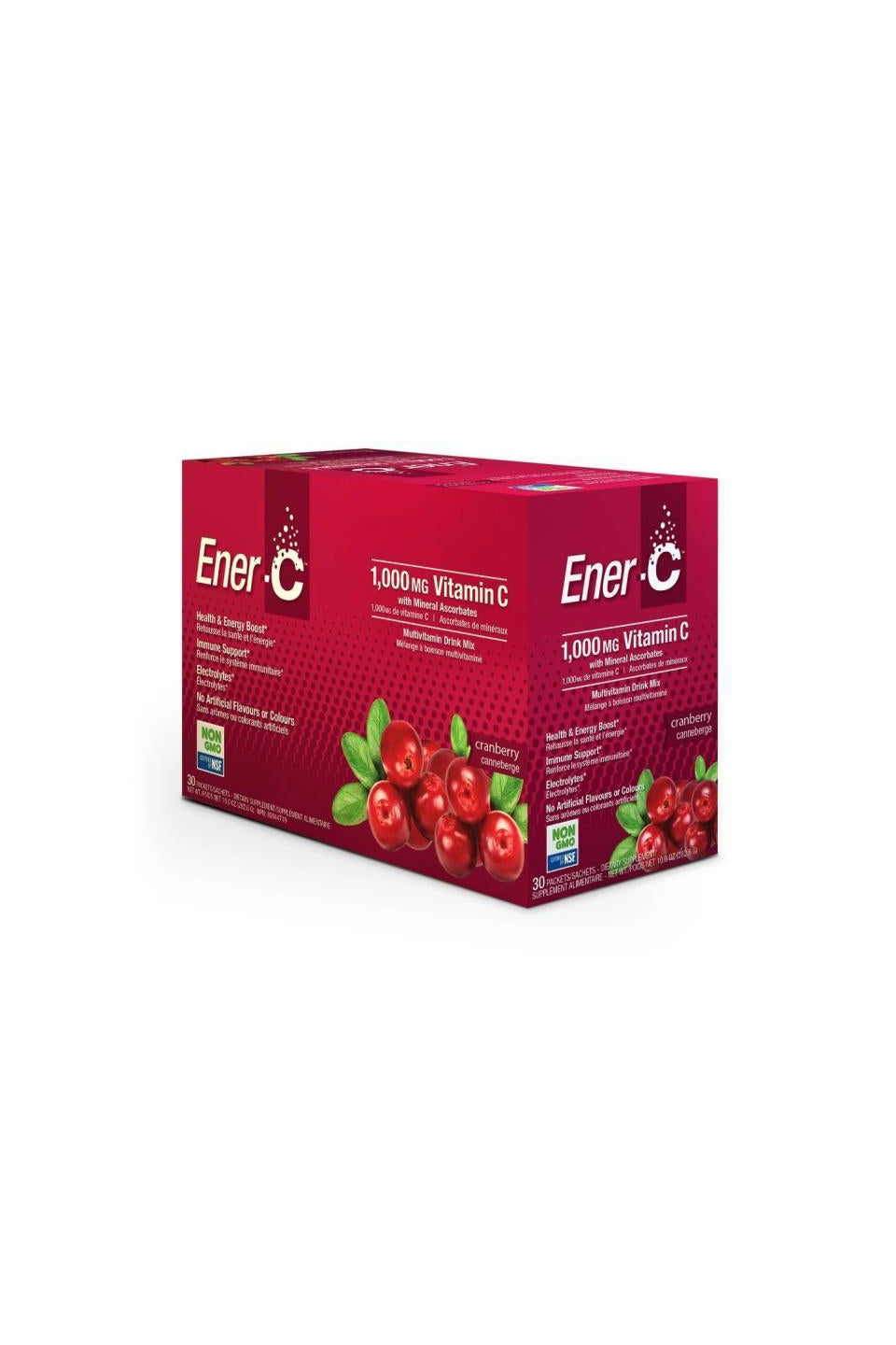 Ener-C Cranberry Multivitamin Drink Mix - 1,000mg Vitamin C (Case of 30)