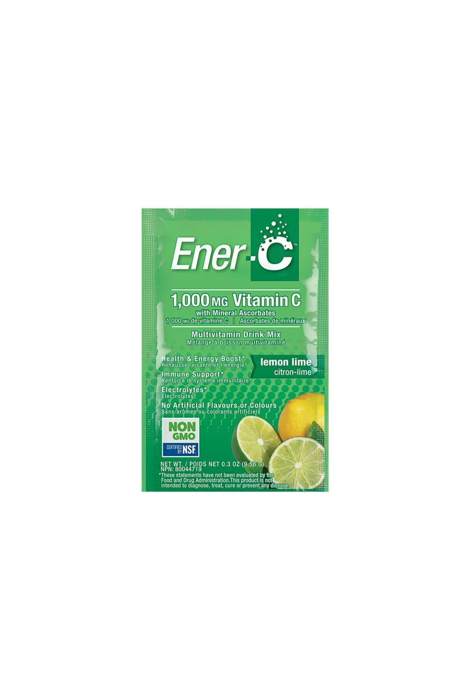 Ener-C Lemon Lime Multivitamin Drink Mix - 1,000mg Vitamin C 1 Sachet