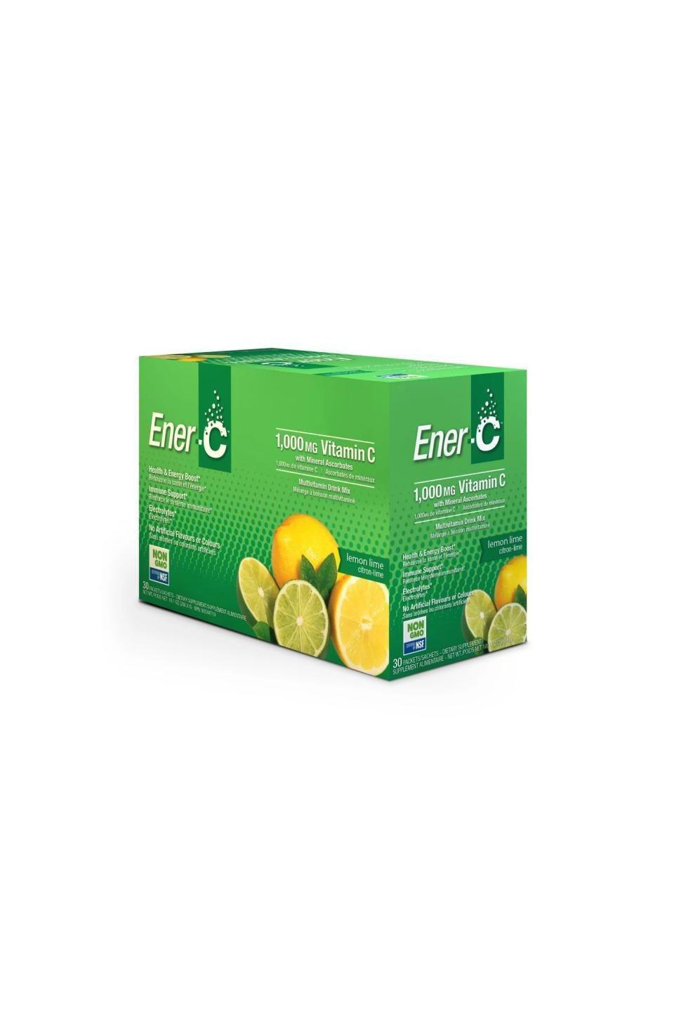 Ener-C Lemon Lime Multivitamin Drink Mix - 1,000mg Vitamin C (Case of 30)