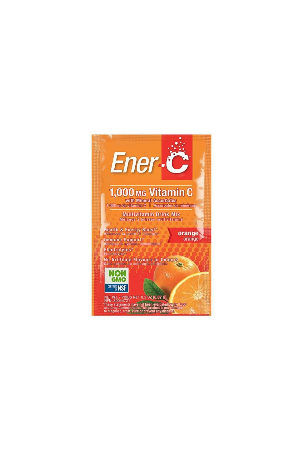Ener-C Orange Multivitamin Drink Mix - 1,000mg Vitamin C 1 Sachet
