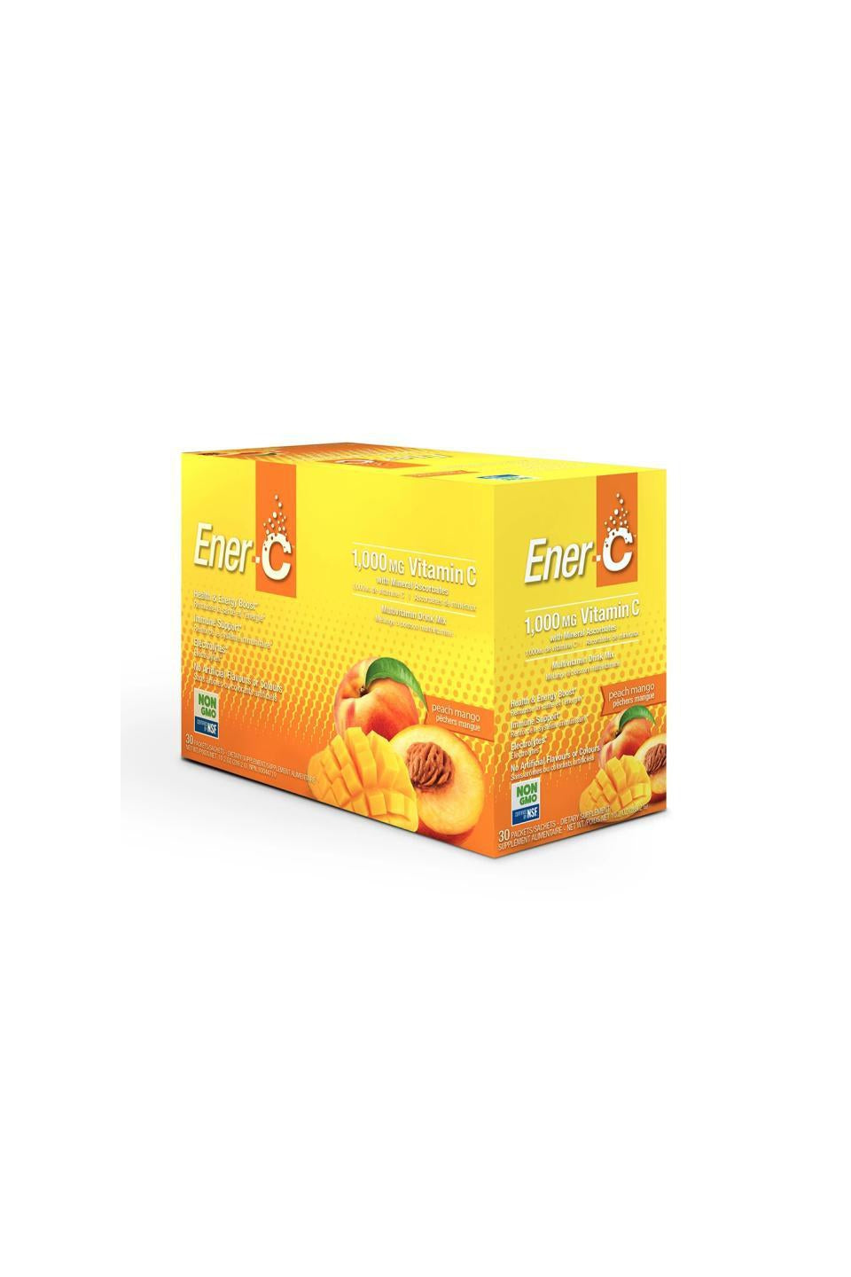 Ener-C Peach Mango Multivitamin Drink Mix - 1,000mg Vitamin C (Case of 30)