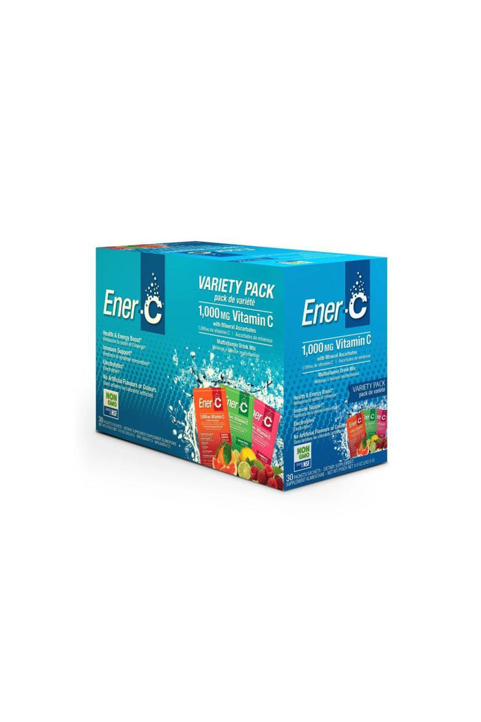 Ener-C Variety Pack Multivitamin Drink Mix - 1,000mg Vitamin C (Case of 30)