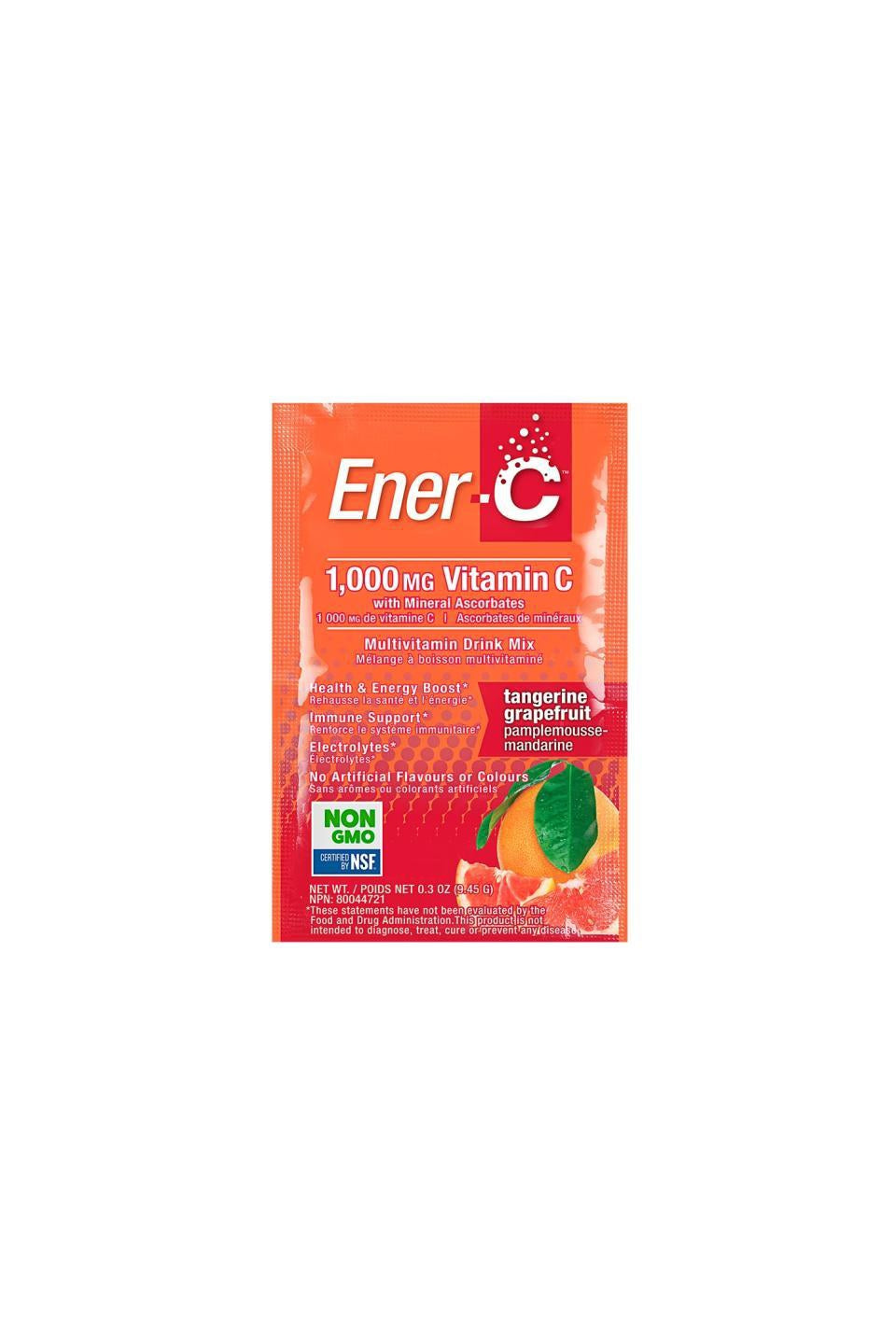 Ener-C Tangerine Grapefruit Multivitamin Drink Mix - 1,000mg Vitamin C 1 Sachet