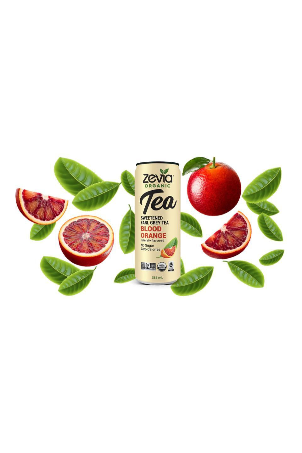 Zevia Earl Grey Tea Blood Orange 355ml
