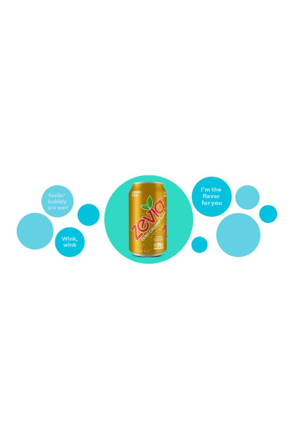 Zevia Cream Soda Single 355ml