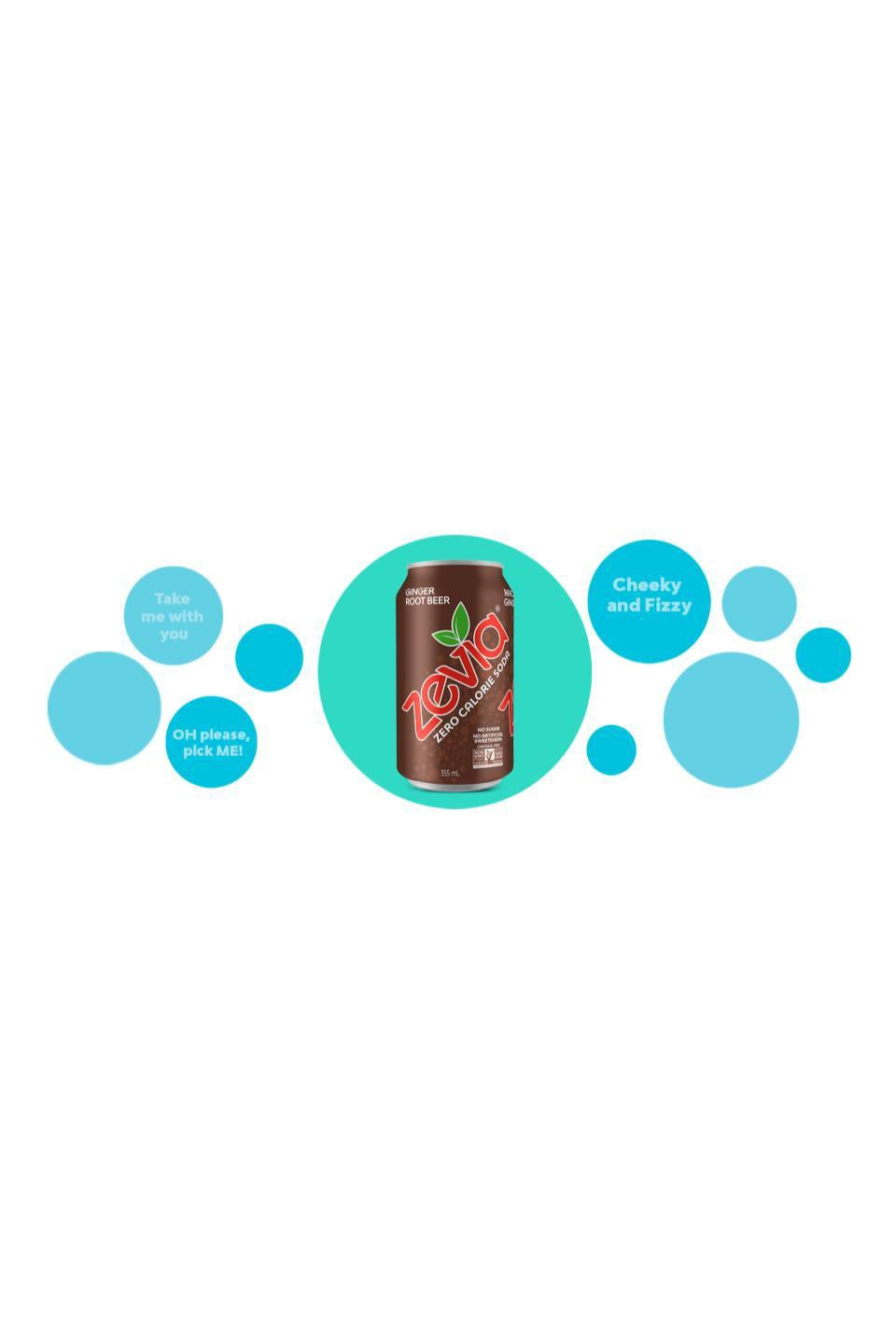 Zevia Ginger Root Beer 355ml