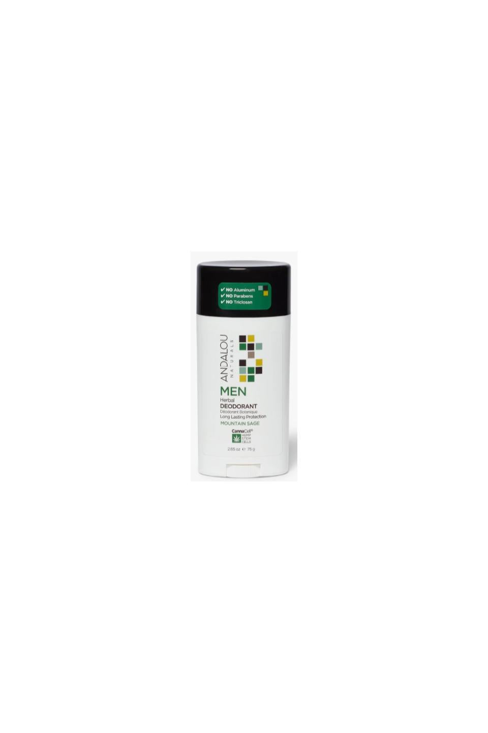 Andalou Men Deodorant Mountain Sage 75g