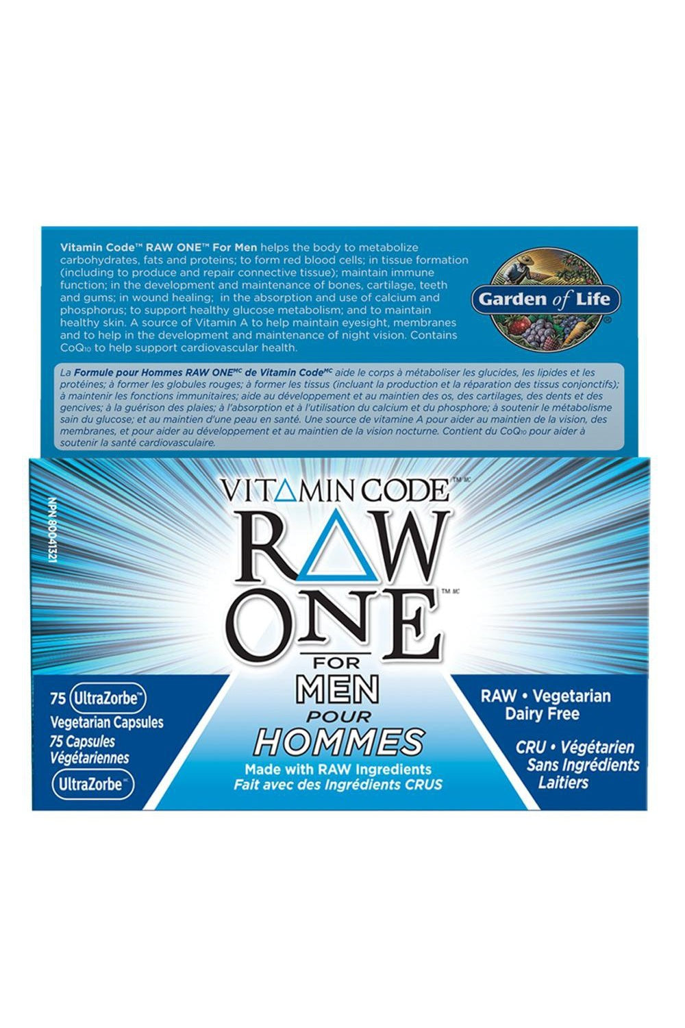 Garden of Life Vitamin Code Raw One For Men 75s