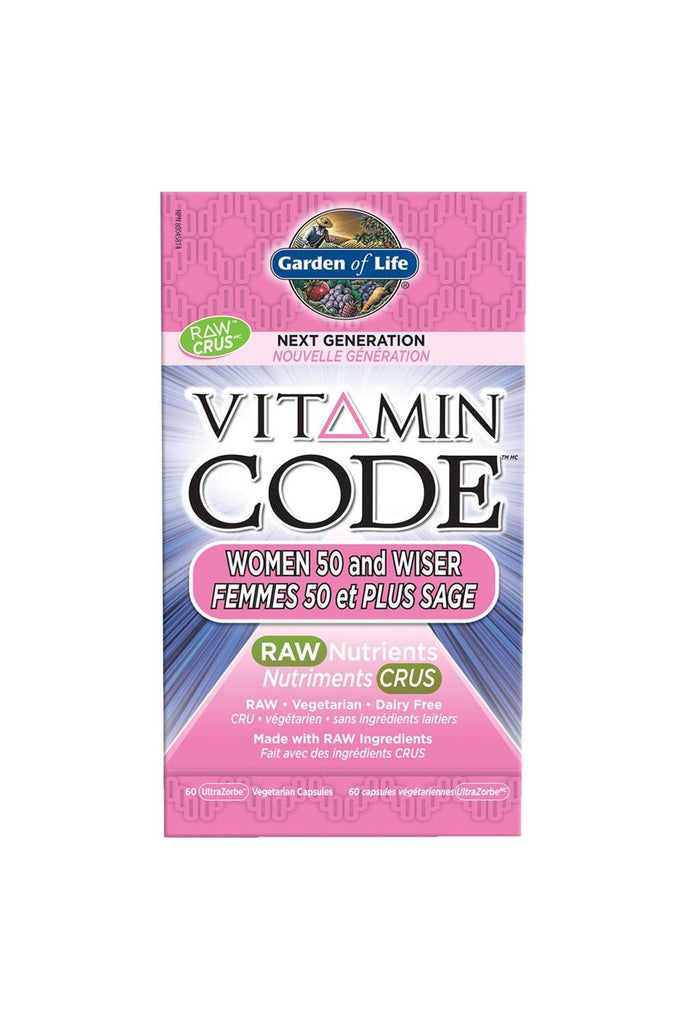 Garden of Life Vitamin Code 50 & Wiser Women Next Generation 60s
