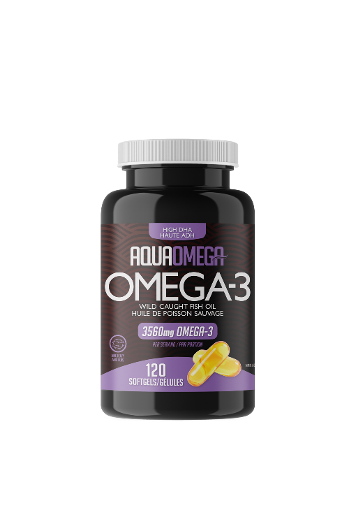 AquaOmega Omega-3 High DHA 120s