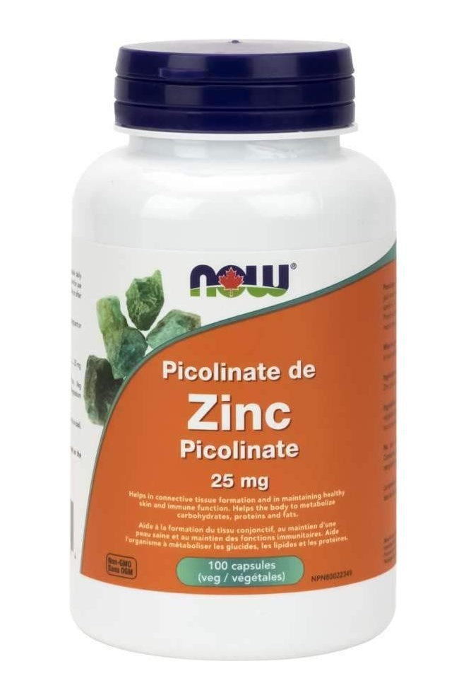 NOW Zinc Picolinate 25mg 100s