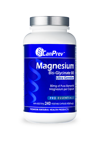 CanPrev Magnesium Bis-Glycinate 80 Ultra Gentle 240s