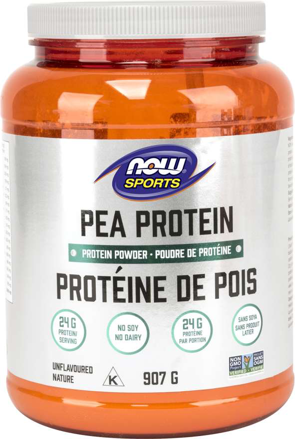 NOW Sports Pea Protein - Unflavoured 907g