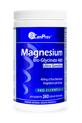 CanPrev Magnesium Bis-Glycinate 400 Ultra Gentle Powder 240g