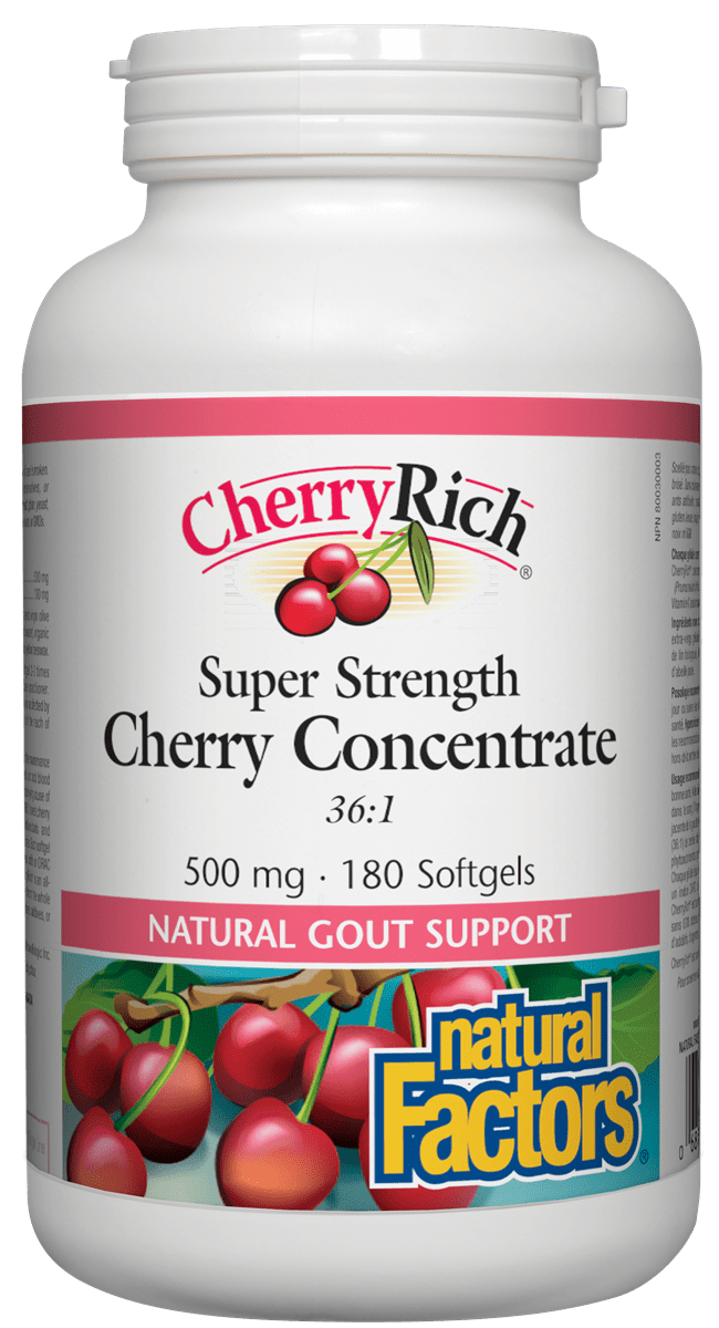 Natural Factors CherryRich® 500mg 180s