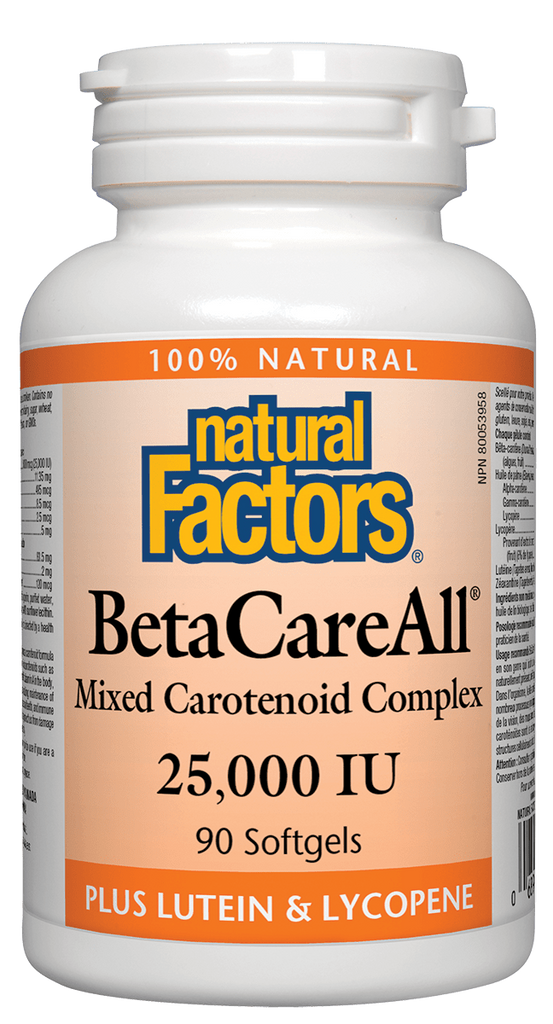 Natural Factors BetacareAll 25,000 IU 90s