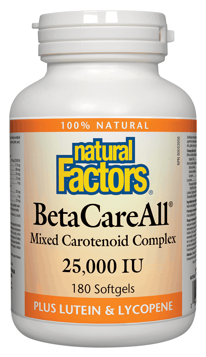 Natural Factors BetaCareAll 25,000 IU 180s