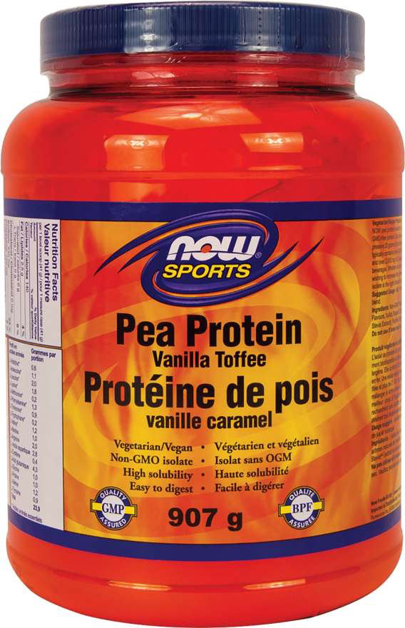 NOW Sports Pea Protein - Vanilla Toffee Flavour 907g