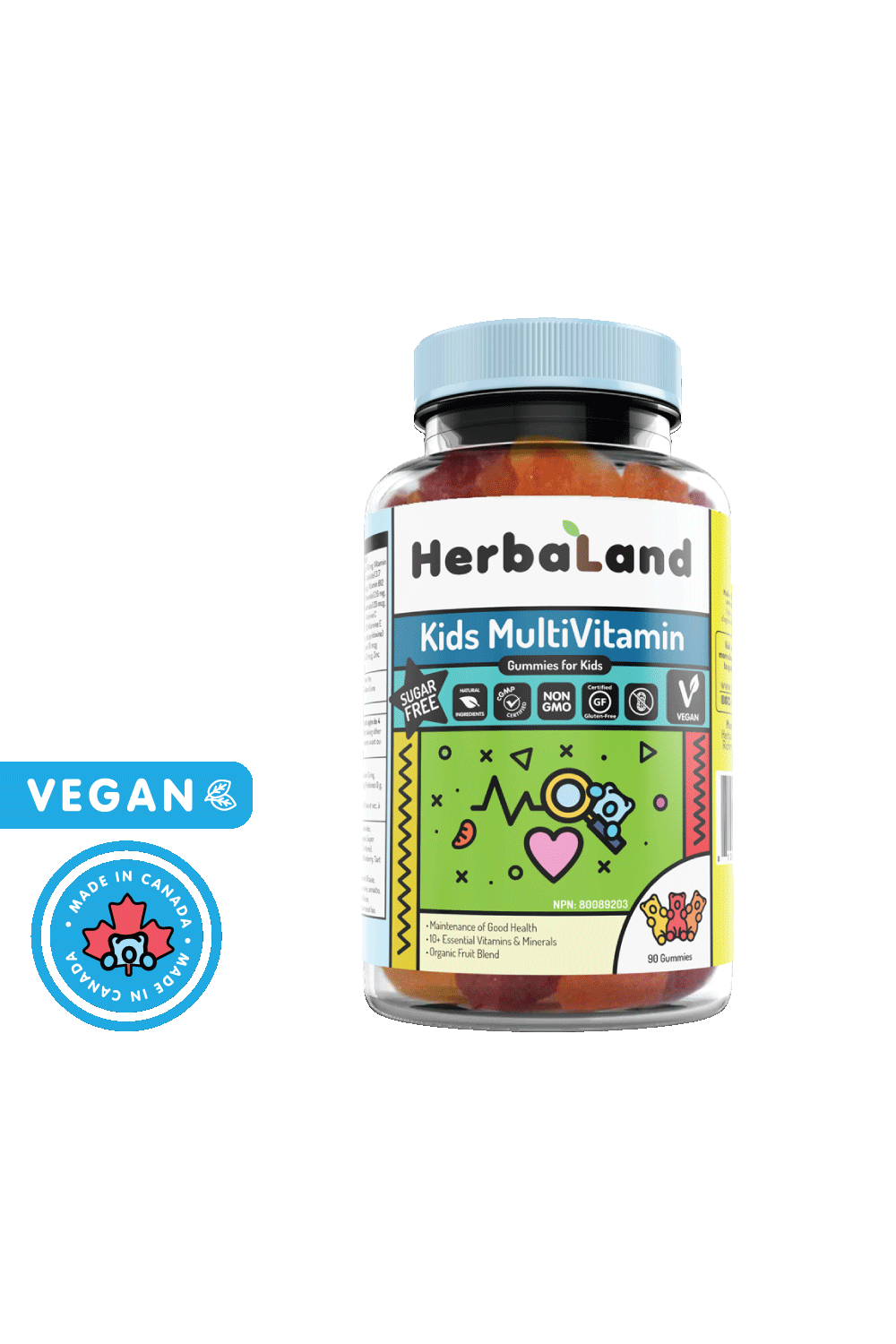Herbaland Gummies for Kids: Multivitamin 90s