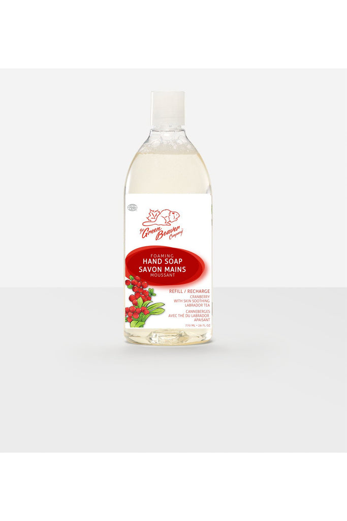 Green Beaver Cranberry Delight Refill Natural Foaming Hand Soap 770ml