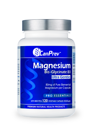 CanPrev Magnesium Bis-Glycinate 80 Ultra Gentle 120s