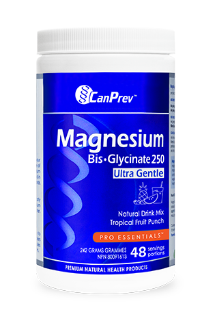 CanPrev Magnesium Bis-Glycinate Drink Mix - Tropical Fruit Punch 242g