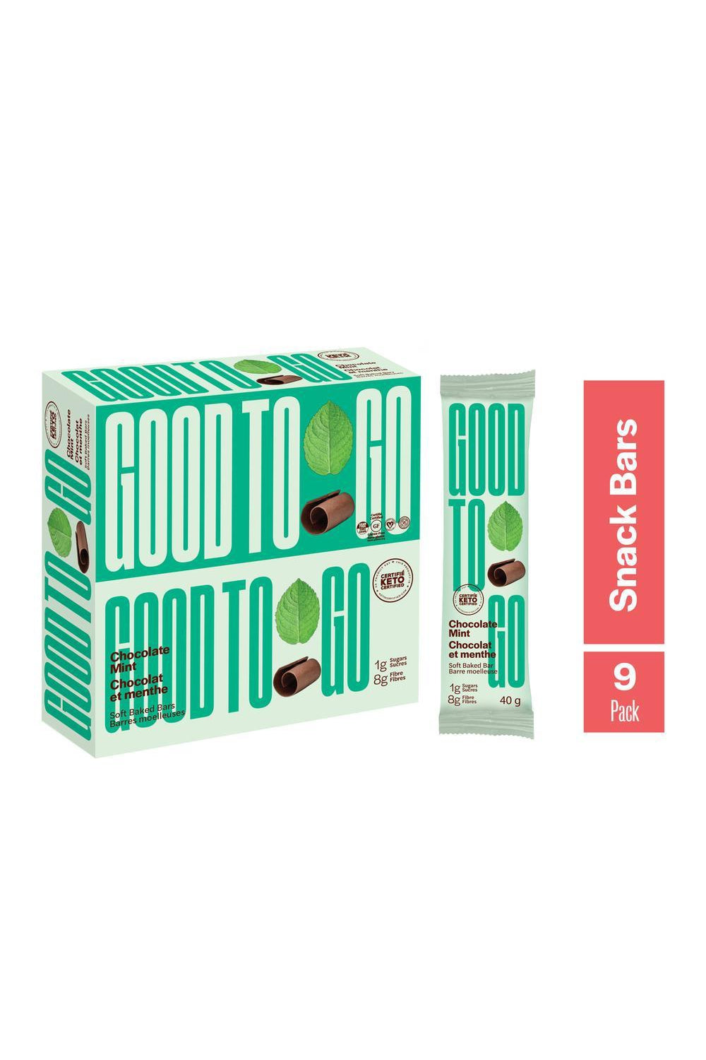Good To Go Chocolate Mint Snack Bar 40g (9 Pack)