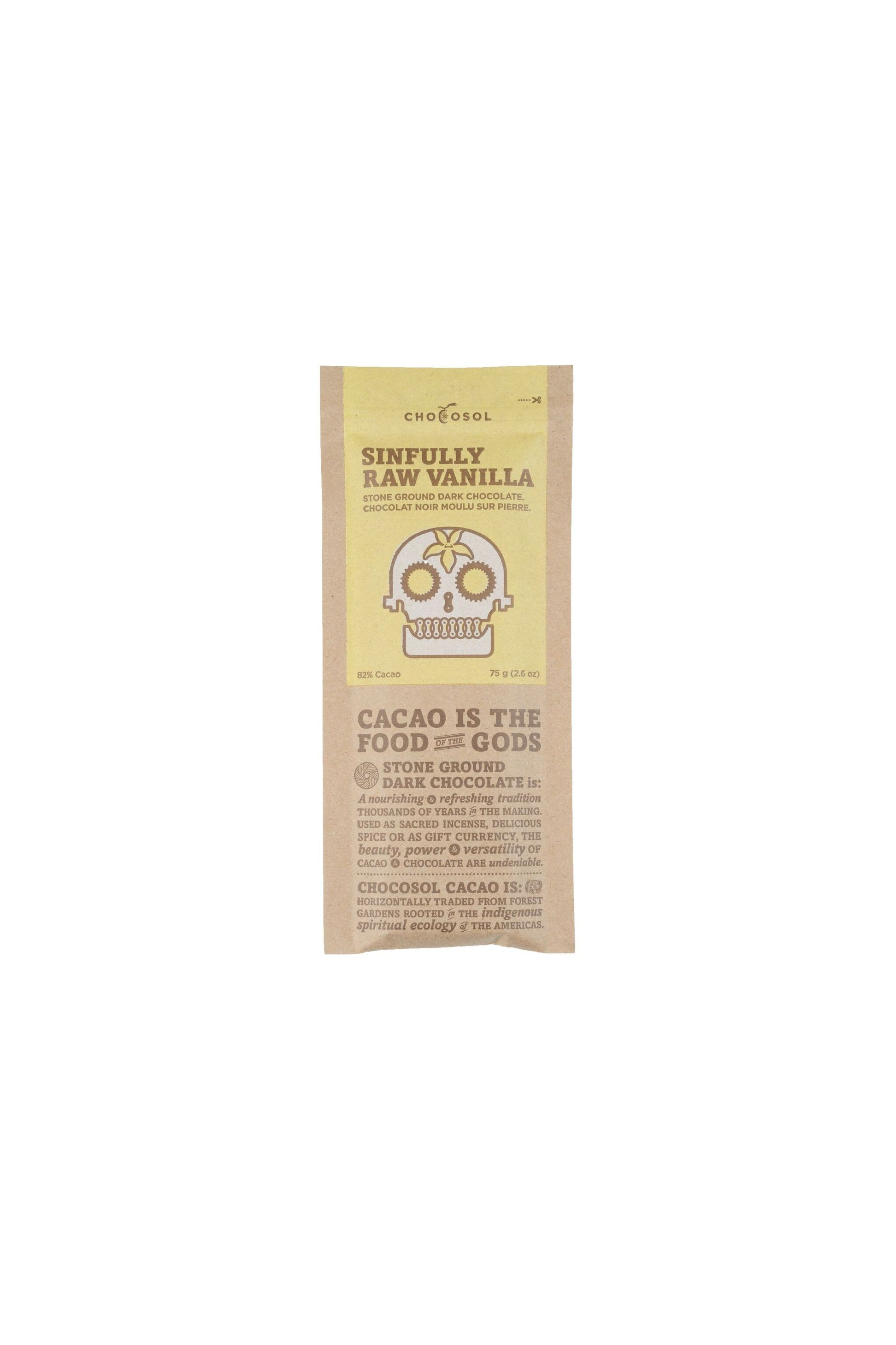 Chocosol Sinfully Raw Vanilla Bar75g