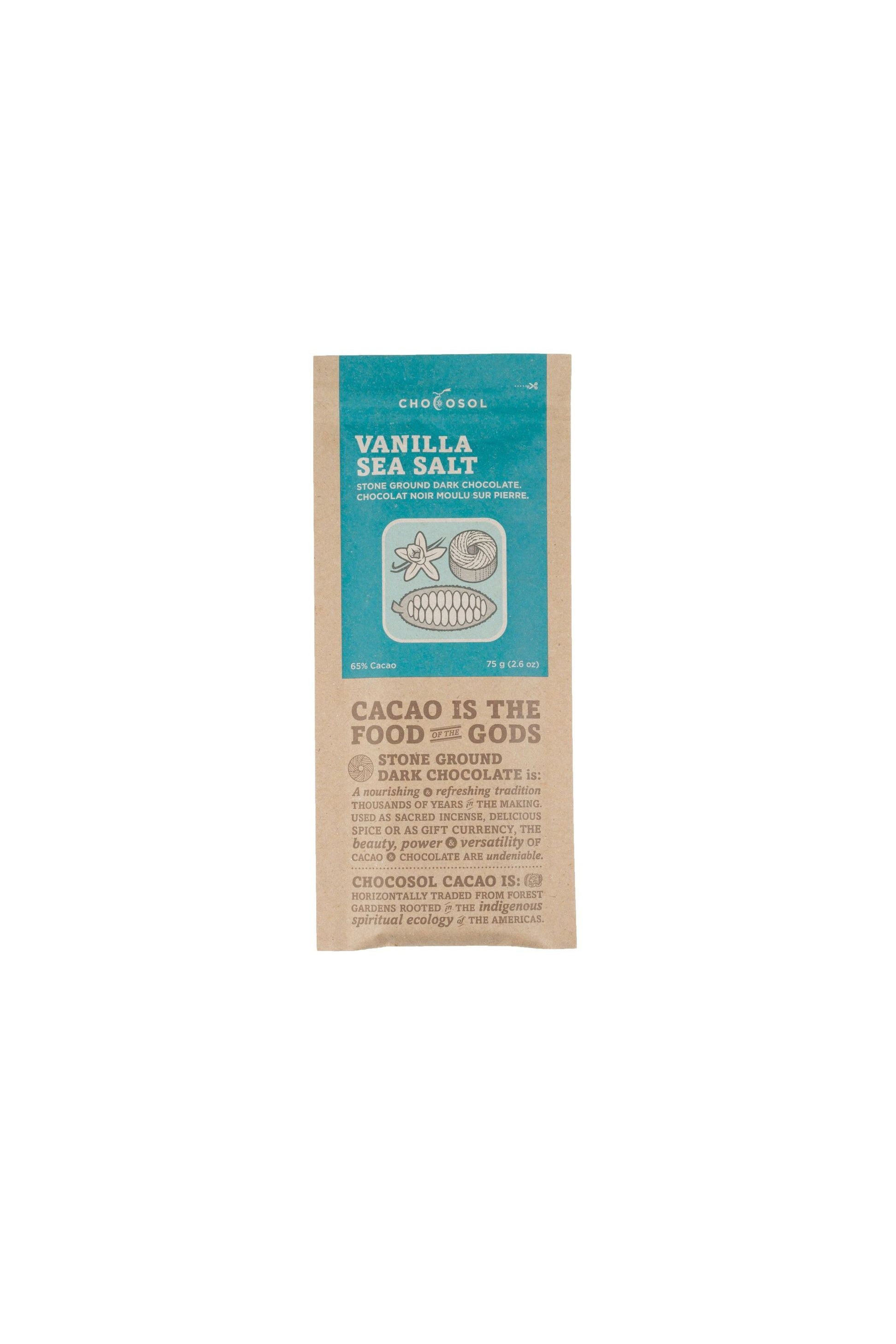 Chocosol Vanilla Sea Salt Bar 75g