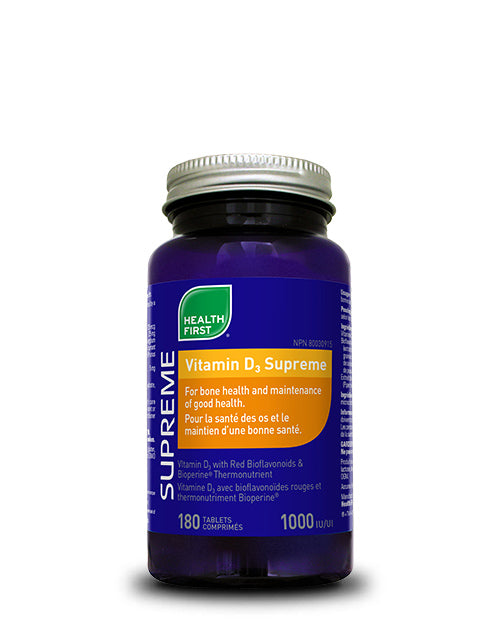 Health First Vitamin D3 Supreme 1000 IU 180s