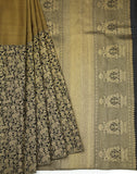 Antique Gold Colour saree -1256
