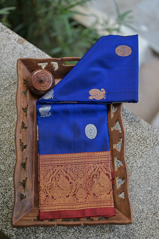 Blue and Red Duppata-2305