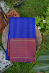 Blue and Bronze Red Kanchipuram Saree-2294