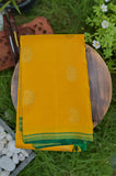 Yellow and Blue Kanchipuram Saree-2301