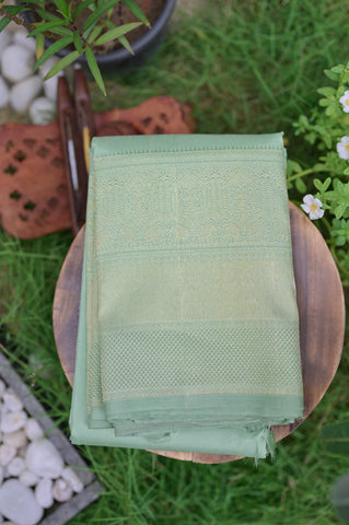 Pastel Green Kanchipuram Saree-2370