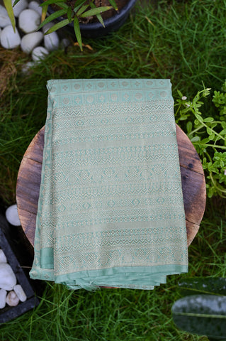 Pastel Green Kanchipuram Saree-2359