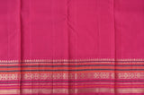 Half White and Maroon Kanchipuram Saree-2293