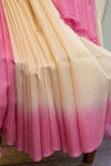 Beige and Pink Cotton Kota Saree-2620