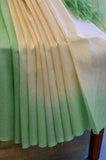 Beige and Green Cotton Kota Saree-2617