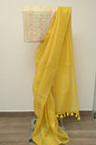Yellow Organza Saree-2625
