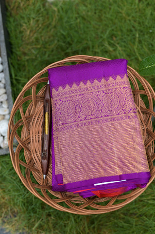 Purple Kanchipuram Saree-2630