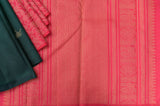 Green and Pink Half&Half Kanchipuram Saree-2399