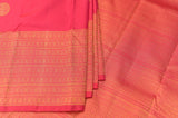 Reddish Pink Kanchipuram Saree-2431