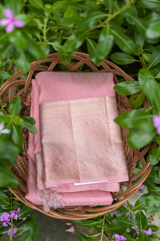 Pastel Pink Kanchipuram Saree-2410
