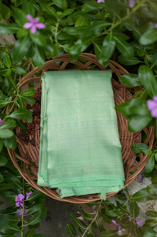 Pista Green Full Zari Kanchipuram Saree-2403