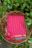 Pink and Green Kanchipuram Saree-2419