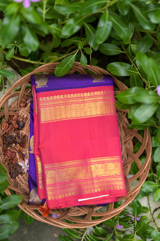 Blue and Pink Kanchipuram Saree-2411