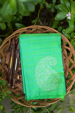 Green Kanchipuram Saree-1351
